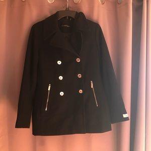 Black Calvin Klein Pea Coat.